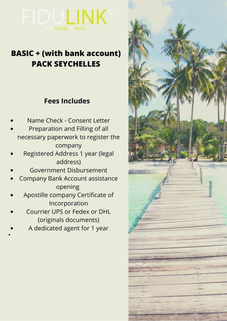 Paket SEYCHELLES Basic + s bankovnim računom